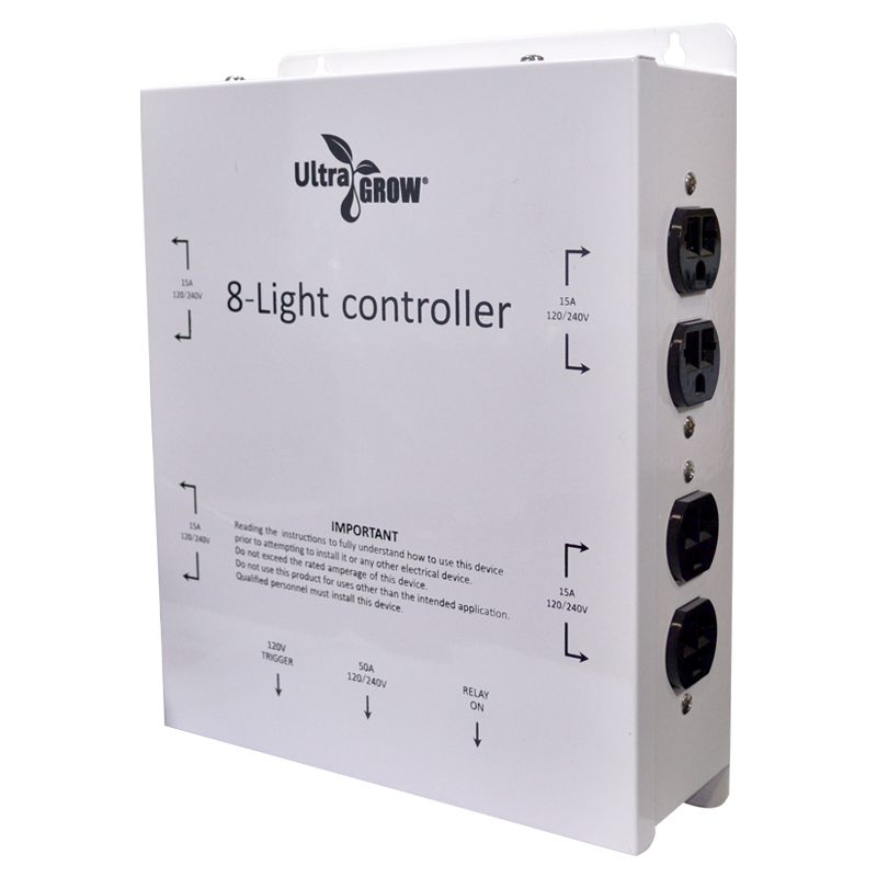 UltraGrow – Light Controller / 8 Outlets With Trigger Cord ...